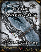 Winter Canyon River 20x28 Battlemap