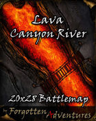 Lava Canyon River 20x28 Battlemap
