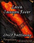 Lava Canyon River 20x28 Battlemap