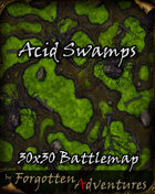 Acid Swamps 30x30 Battlemap