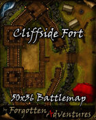 Cliffside Fort 50x36 Battlemap