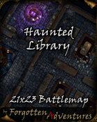 Haunted Library 21x23 Battlemap