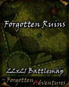 Forgotten Ruins 22x21 Battlemap