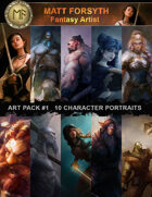 Art Pack#1 Fantasy Character Portraits