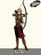 Character - Archer - RPG stock art