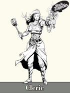 Character - Cleric - RPG stock art