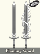 Filler- Flaming Sword - RPG stock art