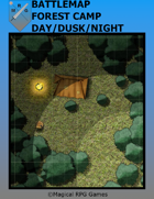 Battlemap Forest Camp Day/Dusk/Night