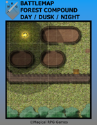 Battlemap Forest Compound Day/Dusk/Night