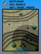 Battlemap Hill Saddle Day/Dusk/Night