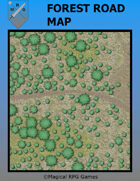 image of a battle map named Forest-Road-Map
