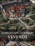 Gorgeous City Maps:  The Port City of Vevendi