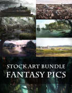 8 Pieces! - Fantasy Stock Art Bundle - Towns, Forests, Ports, Amazing Fantasy Places