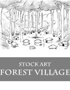 Forest Village - Stock Art