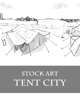 Tent City - Stock Art