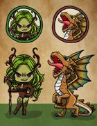 Fiends & Foes: Paper Minis and Tokens, Vol. 1