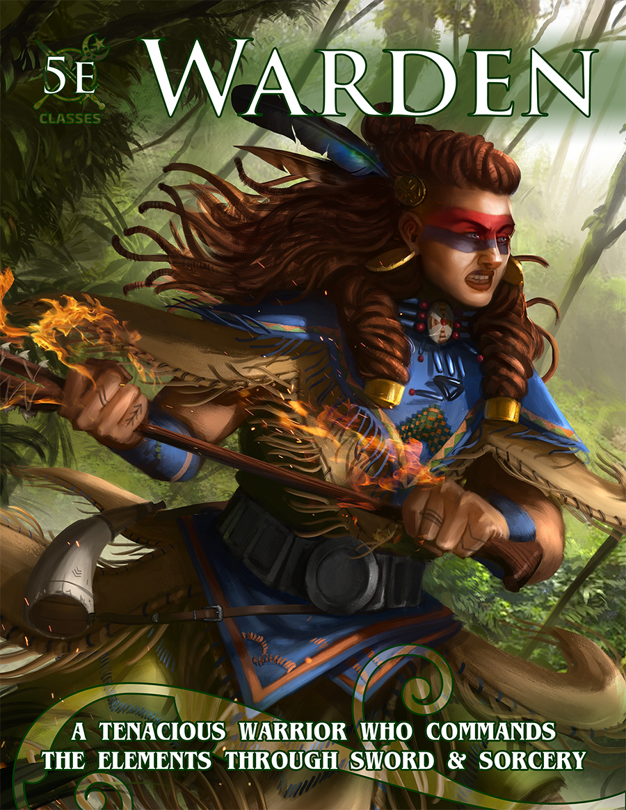 The Warden class is a brand new class for Dungeons and Dragons 5th Edition, combining elemental magic and martial prowess!