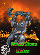 Dwarf Name maker Tool