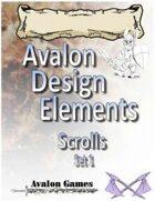 Avalon Design Elements, Scroll Set 1