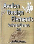 Avalon Design Elements, Parchment Set 3