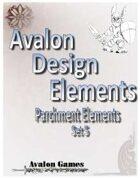 Avalon Design Elements, Parchment Set #5