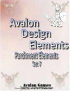 Avalon Design Elements, Parchment Set 7
