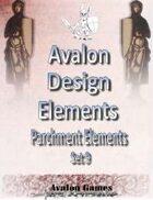 Avalon Design Elements, Parchment Set 9