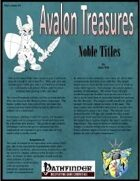 Avalon Treasure, Vol 1, Issue #3 Noble Title