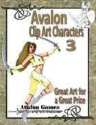 Avalon Clip Art Characters, Warrior Woman 1
