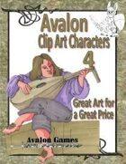 Avalon Clip Art Characters, Halfling Bard