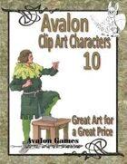 Avalon Clip Art Characters, Bard 2