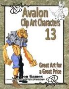 Avalon Clip Art Characters, Alien 1