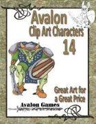 Avalon Clip Art Characters, Goblin 1