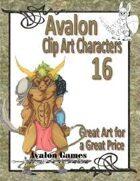 Avalon Clip Art Characters, Minotaur