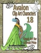 Avalon Clip Art Characters, Elf 2