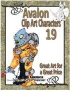 Avalon Clip Art Characters, Alien 2