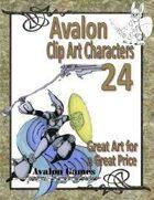 Avalon Clip Art Characters, Star Knight 7