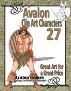 Avalon Clip Art Characters, Barbarian