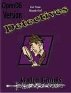 Detectives Investigation Sourcebook, Open D6 Version