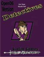 Detectives Investigation Sourcebook, Open D6 Version