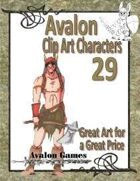 Avalon Clip Art Characters, Barbarian 2