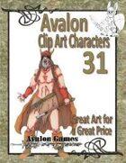 Avalon Clip Art Characters, Barbarian 3