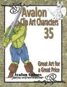 Avalon Clip Art Characters, Orc 1