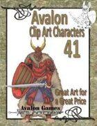 Avalon Clip Art Characters, Dark Warrior 1