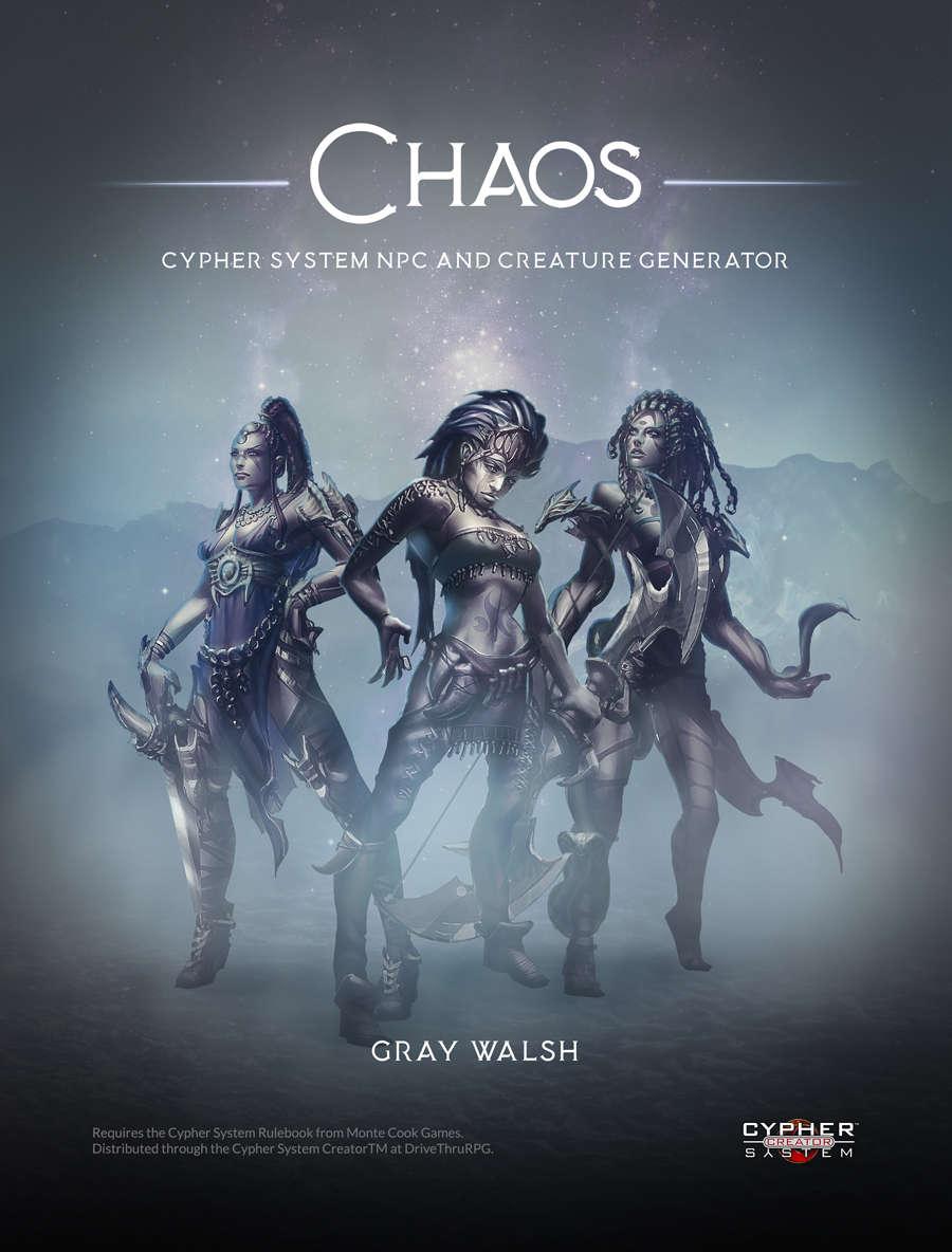 chaos cypher system npc and creature generator realmweaver games