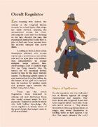Occult Regulator- Player Character Class