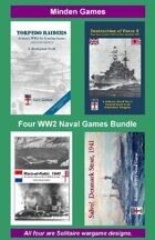 BUNDLE: 4 Solitaire WW2 Naval Games