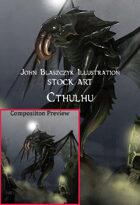 Monster - Cthulhu Rises Over R'lyeh- Stock Art