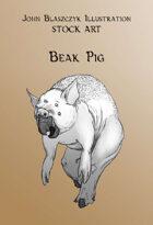 Monster - Beak Pig- Stock Art