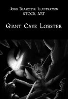 Monster - Giant Cave Lobster - Stock Art